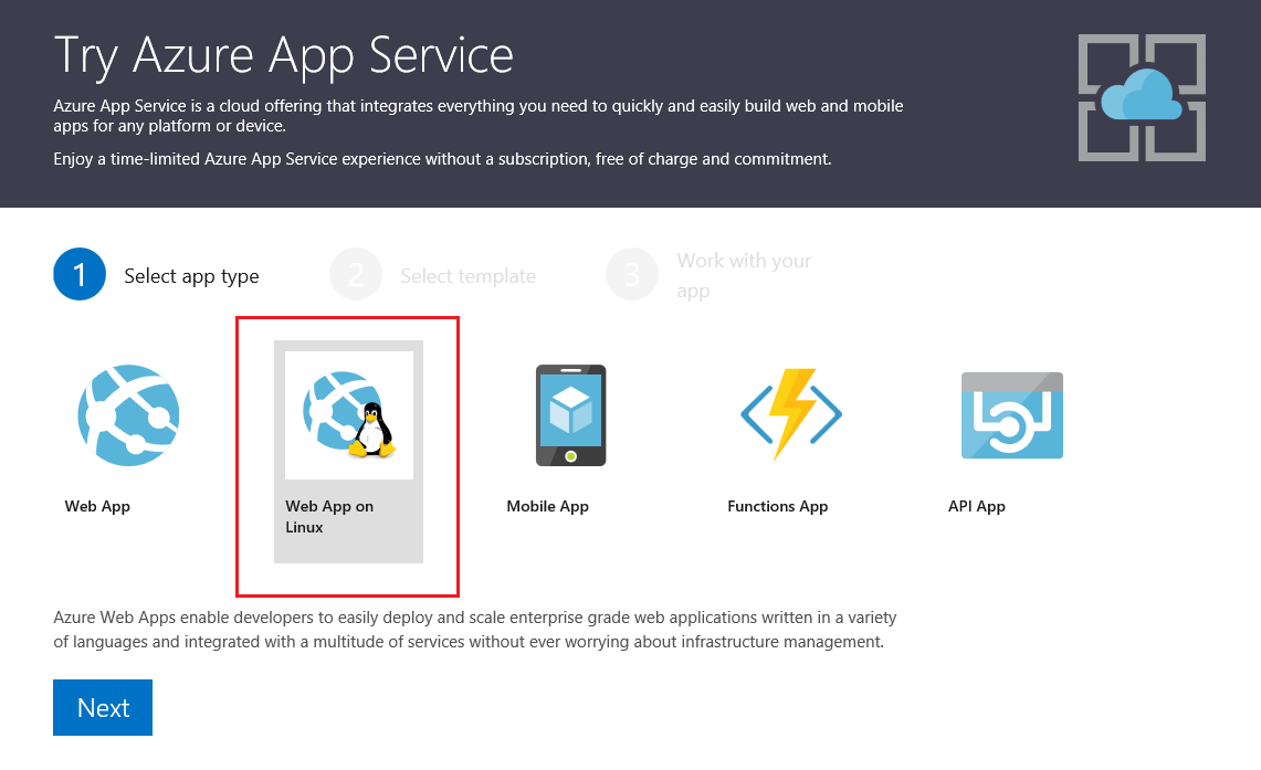 Announcing Try App Service Web App On Linux Containers Azure App Service