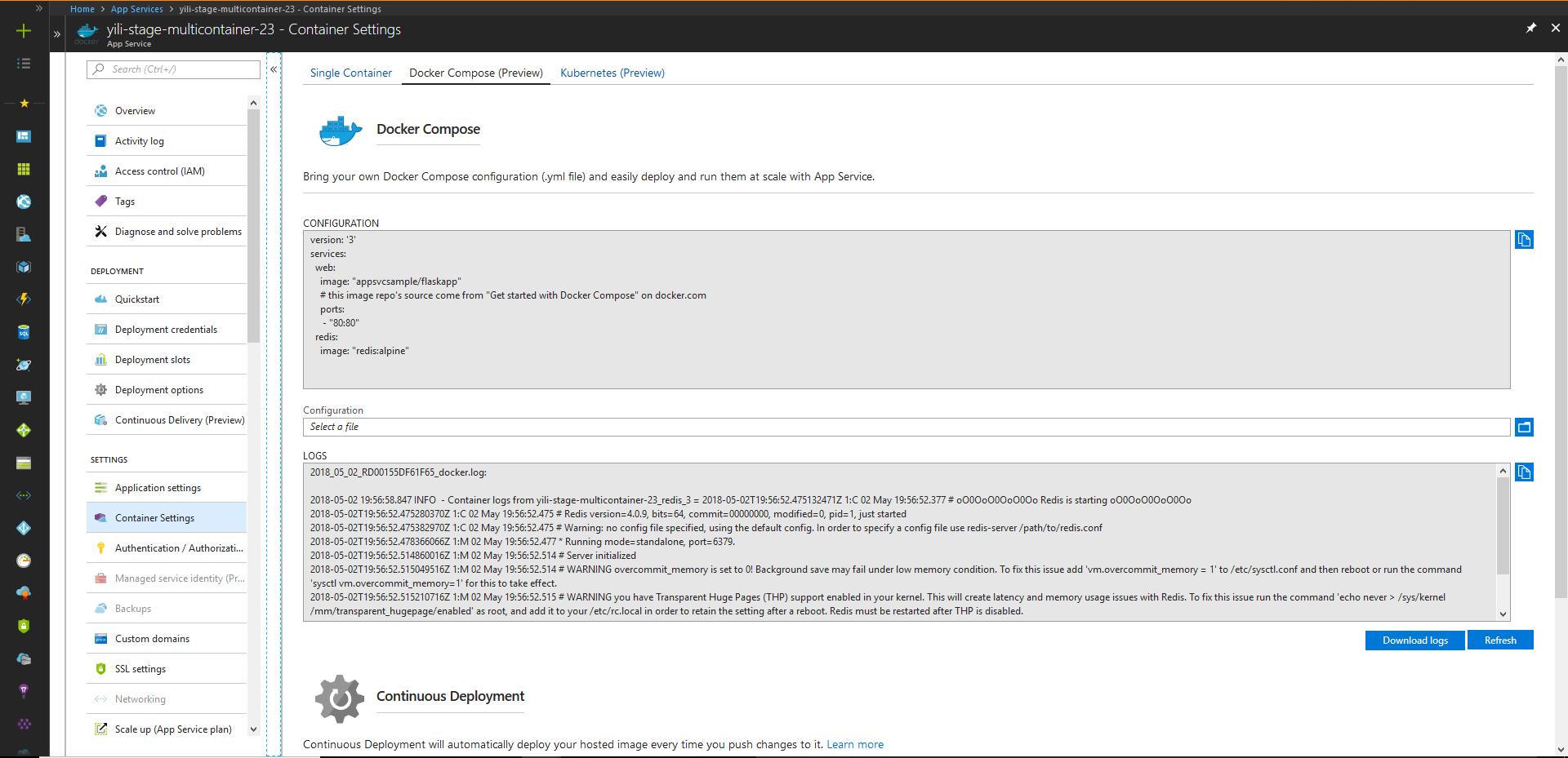 Multi-container Linux Web App - App Service Blog