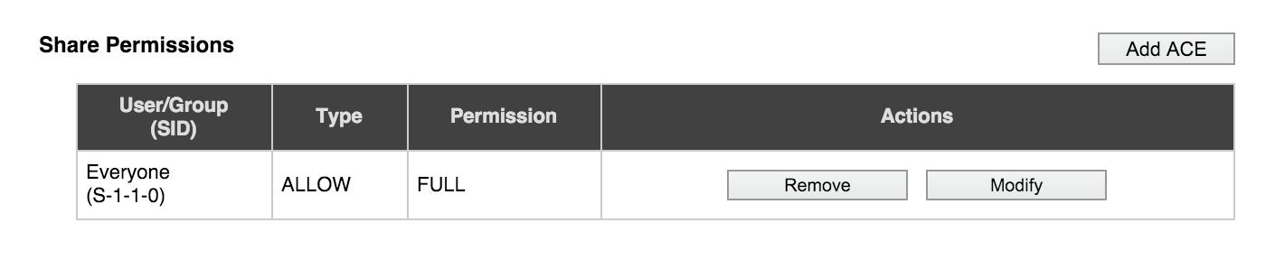 VServer > CIFS Shares — Avere OS Configuration Guide